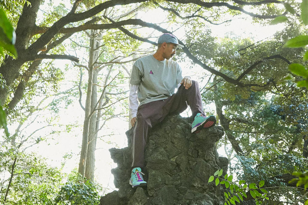 Nike NikeLab ACG Spring/Summer 2018 SS18 Errolson Hugh Tactical Performance Wear Outdoors Hiking Dog Mountain Sneakers Boots Jackets T-shirts Graphics Trail Release Information Details Price END.