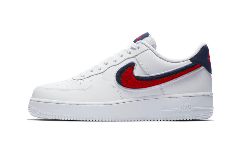 lowest price 970cd e2a6d Nike Air Force 1  07 LV8 Chenille Swoosh Release Date