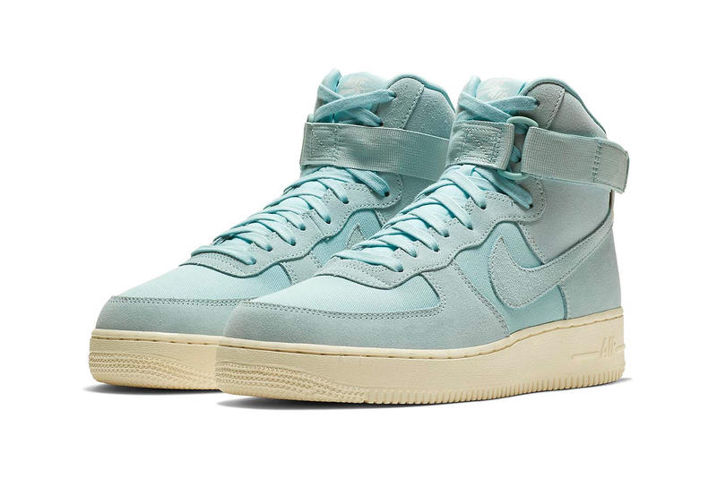 timeless design 831aa b3c93 Nike Air Force 1 High Tonal Suede release date summer 2018 blue beige yellow