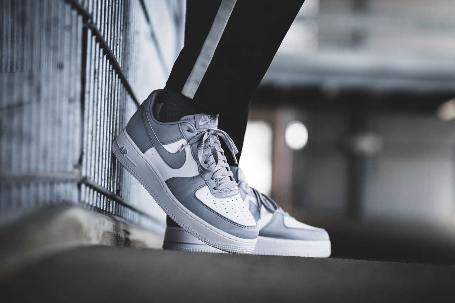 white and grey air force 1