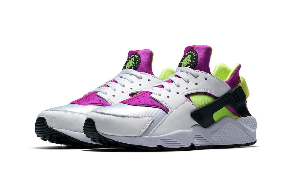 7531fe64538b Nike Air Huarache Run 91 Neon Yellow Magenta