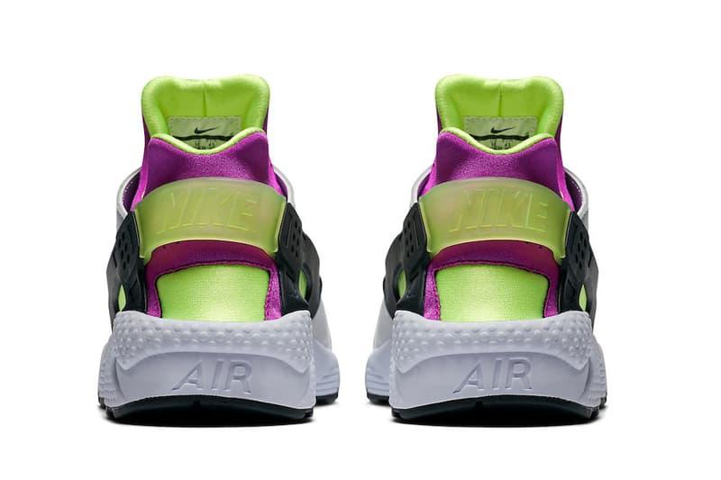 Nike Air Huarache Run 91 Neon Yellow/Magenta Black White Hulk Color Pop