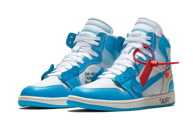 7074057eccc Virgil Abloh Nike Air Jordan 1 Retro High Off White Powder Blue Launch  Details Release Info