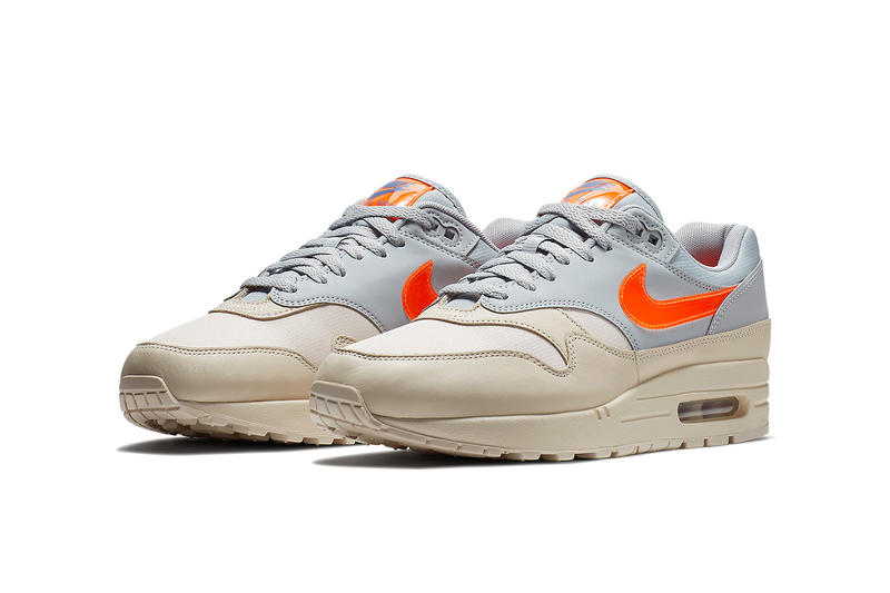 Nike Air Max 1 Desert Sand Grey Orange Blue nike sportswear footwear 2018 may drops release info
