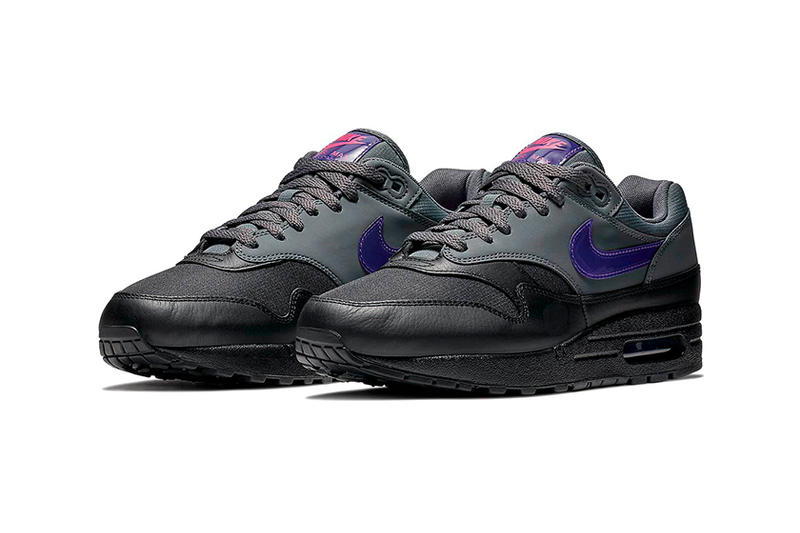 Nike Air Max 1 Ripstop Nylon Dark Grey Black Pink Blast Fierce Purple