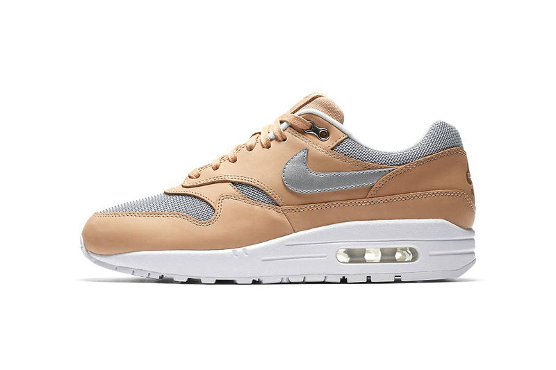 sports shoes 8ebeb 72079 Nike Air Max 1 Vachetta Tan Metallic Silver white AO0795 200 may 2018  release date info
