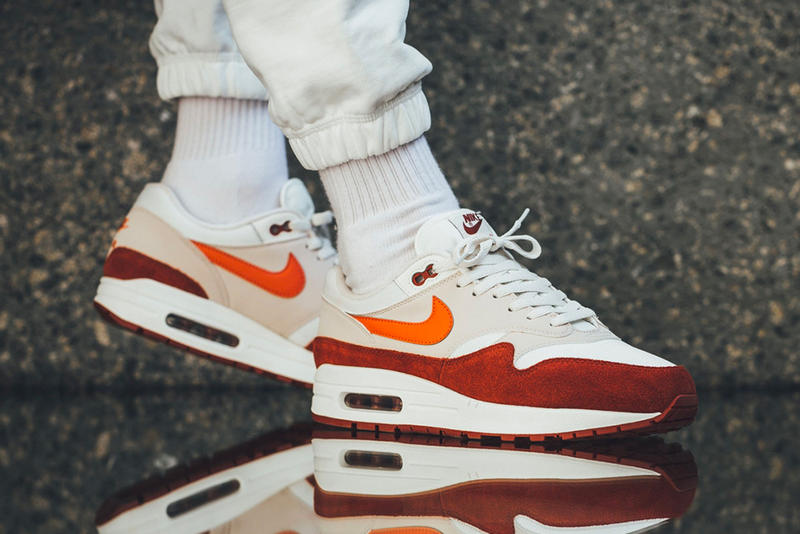 Nike Air Max 1 Curry On-Feet Vintage Coral Mars Stone release date drop info purchase price footwear sneaker summer 2018
