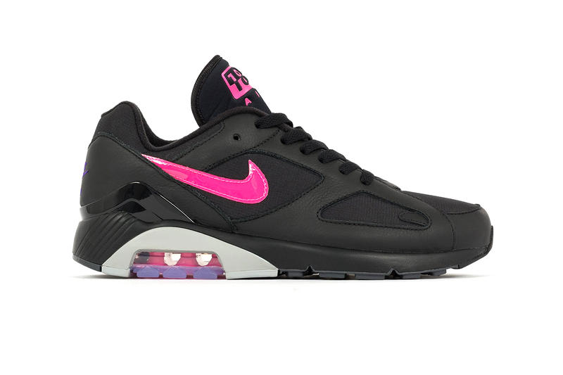 778b532c7ed8 Nike Air Max 180 black wolf grey pink purple release info sneakers footwear