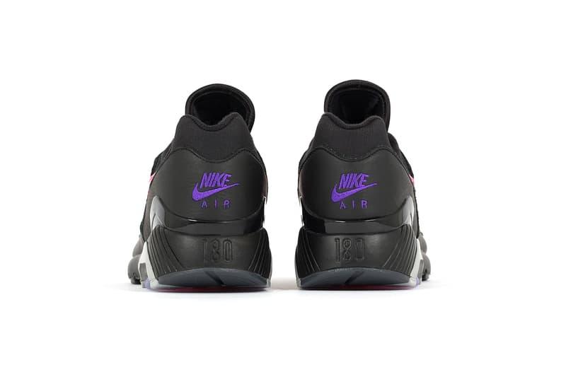 Nike Air Max 180 black wolf grey pink purple release info sneakers footwear