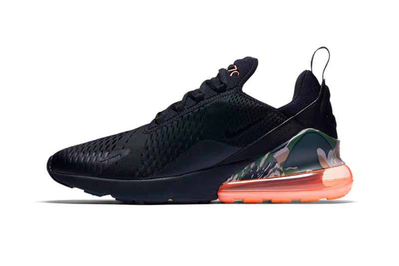 Nike Air Max 270 Camo Sunset release info black sneakers footwear