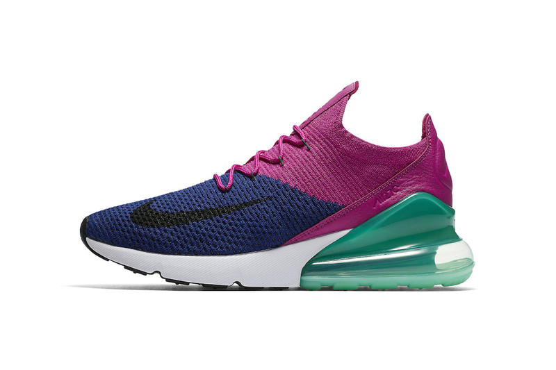 Nike Air Max 270 Flyknit Fuchsia Flash june 14 2018 release date info drop sneakers shoes footwear