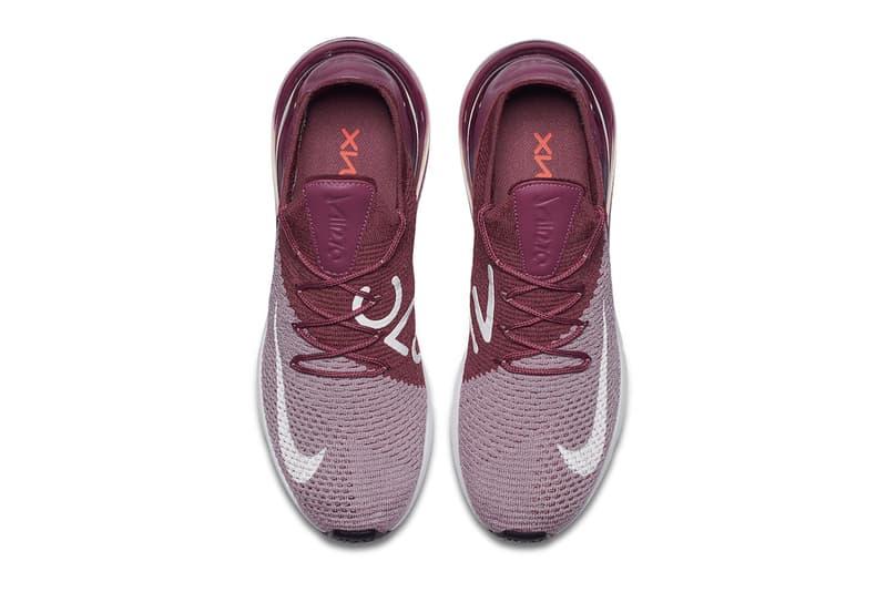 Nike Air Max 270 Flyknit Plum May 15 2018 release date info drop sneakers shoes footwear
