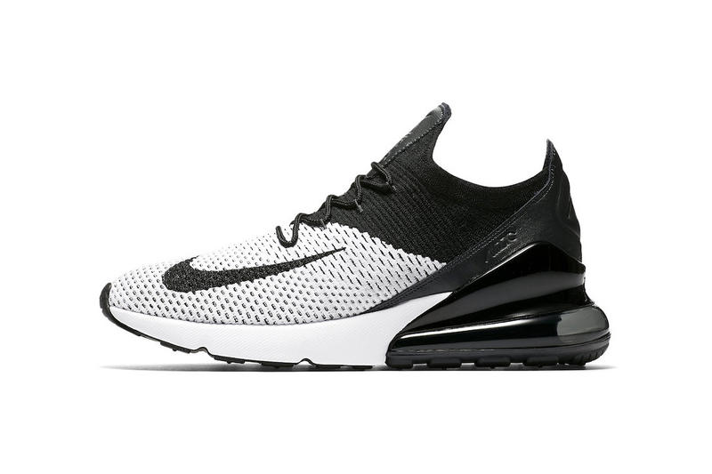new concept 25876 2105c Nike s Air Max 270 Flyknit Gets Its Cleanest Colorway Yet. Featuring  classic black and white color-blocking.