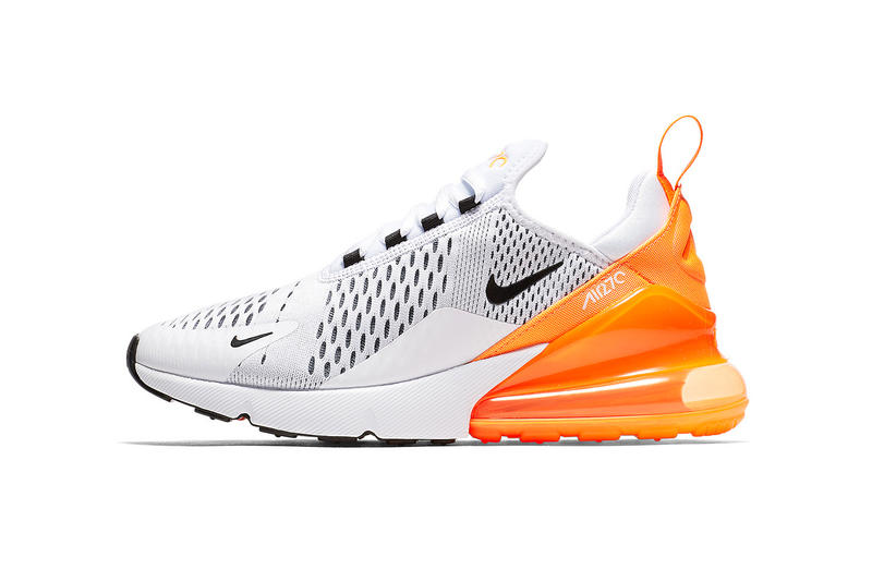 49bea2a98036 Nike Air Max 270 White Orange Black AH6789 104 may 2018 release date info  drop sneakers