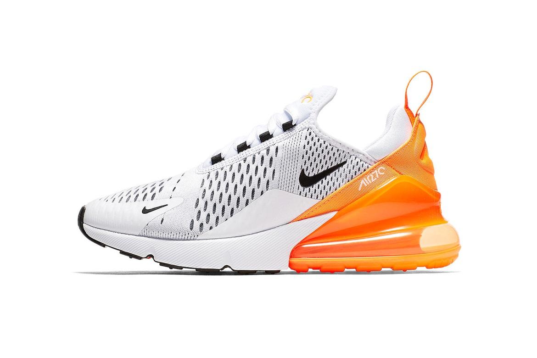 Nike Air Max 270 In White Orange Black Hypebeast