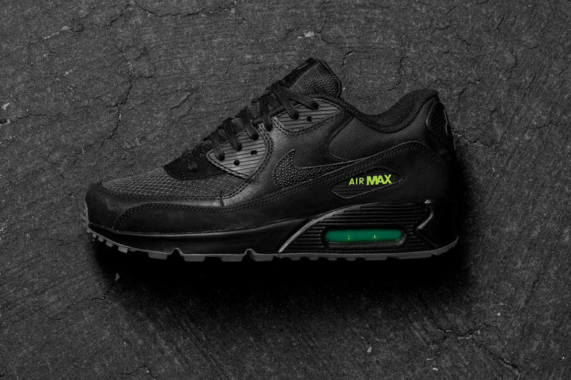 watch 3469c 580de Nike Air Max 90 Black Volt Release Date info sneakers footwear