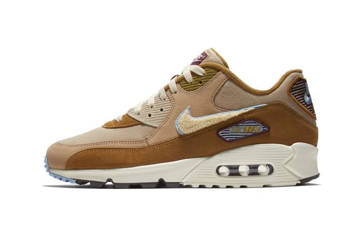 d84f7a658ec Nike Air Max 90 Gets Cozy With a Chenille Swoosh