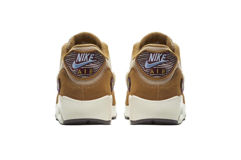 Nike Air Max 90 Chenille Swoosh First Look tan release date sneaker price blue suede leather