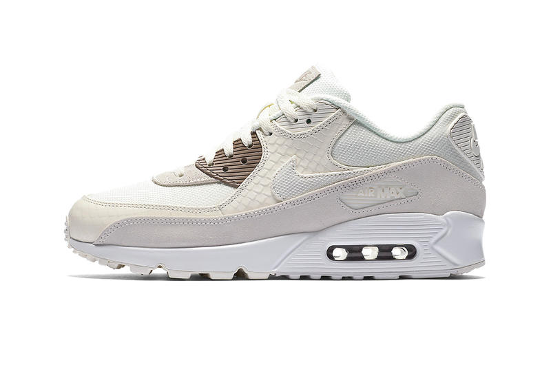 Nike Air Max 90 release info sail sepia stone habanero red gym red leather  suede nubuck. 1 of 10 9798e41c2