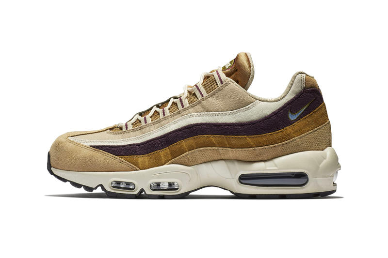 "Nike Air Max 95 ""Desert/ Royal Tint"" sneaker release brown suede gold price"