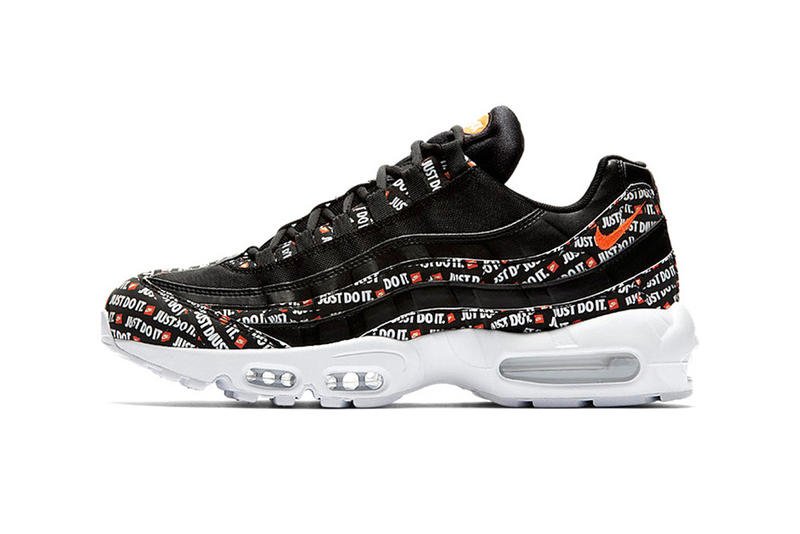 Nike Air Max 95 Just Do It Black White Orange 2018 footwear nike sportswear