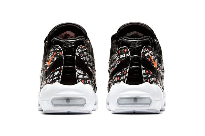 Nike Air Max 95 Just Do It Black White Orange 2018 footwear nike sportswear