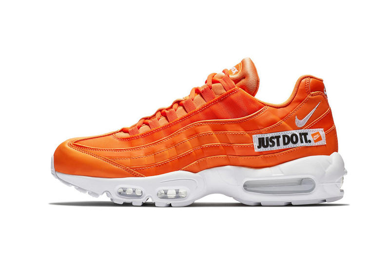 Nike Air Max 95 Just Do It orange white black nike sportswear footwear 2018 71db8953ed