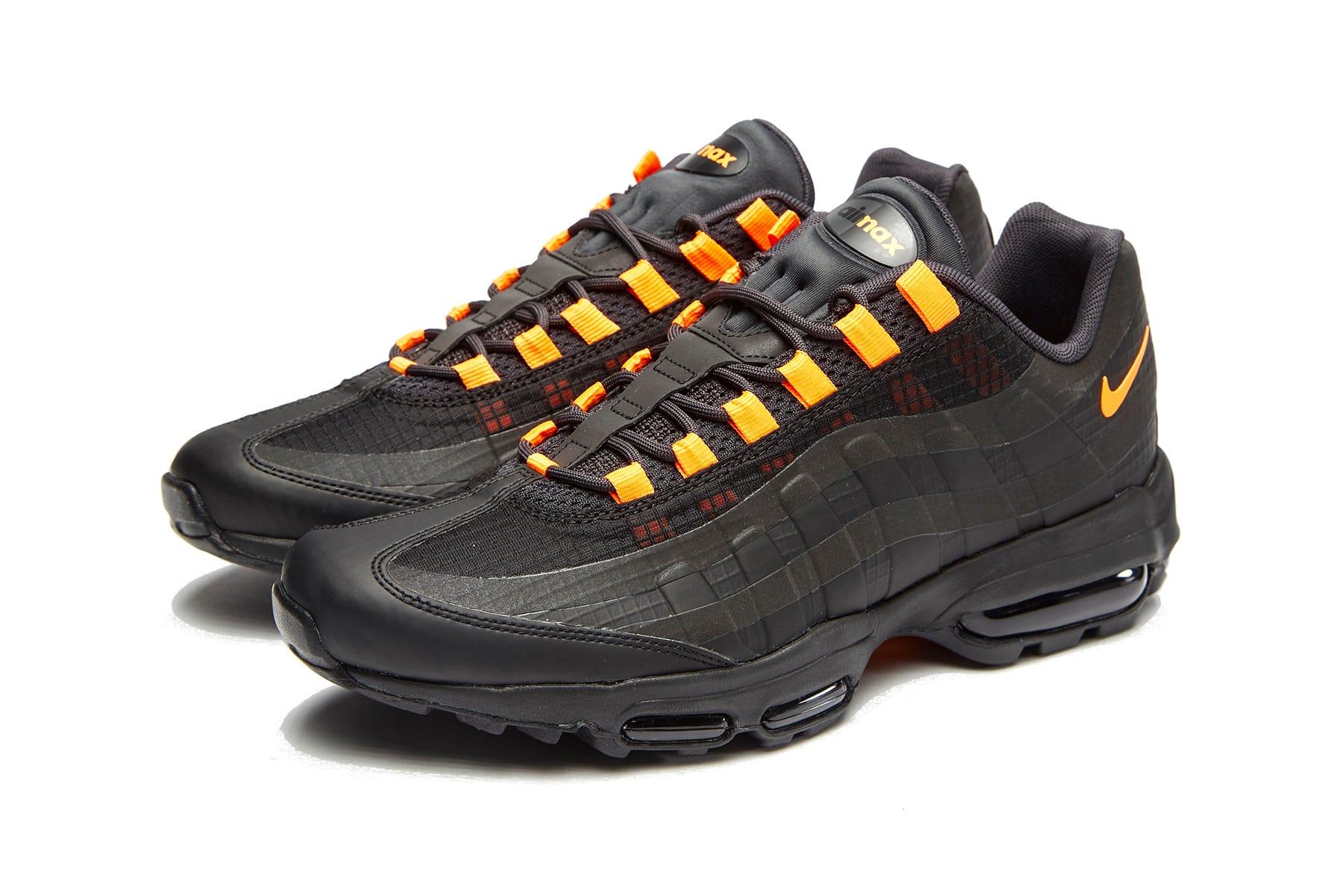 nike air max 95 ultra se black and orange