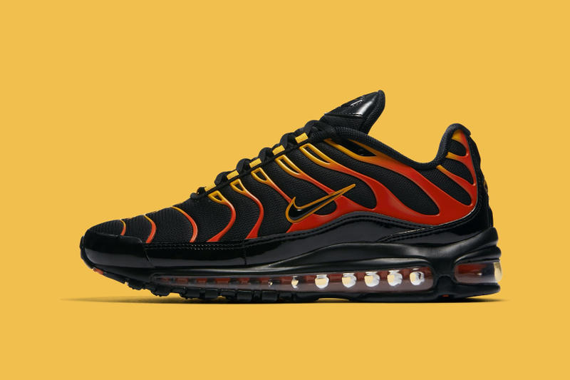 94dd829340 Nike Air Max 97 Plus Black Red Yellow Orange nike sportswear air max 97 air  max