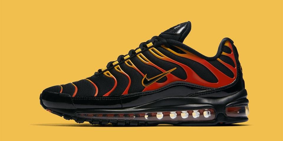 Nike Air Max 97 Plus In Black Red Yellow Orange Hypebeast