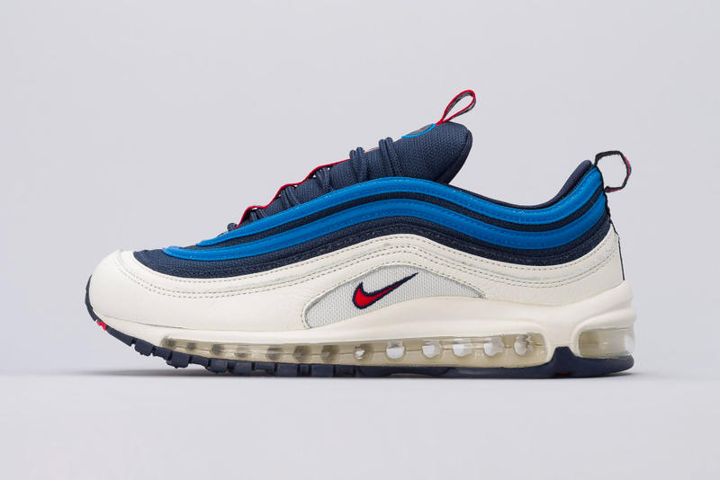 Nike Air Max 97 Pull Tab blue white red release info sneakers footwear