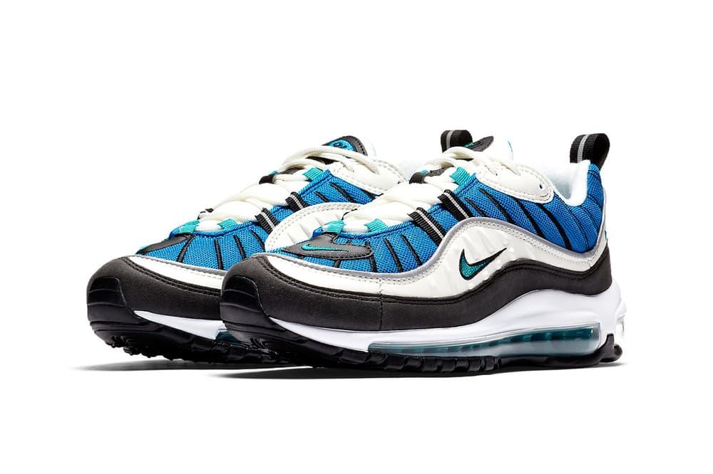 Nike Air Max 98 blue nebula sail radiant emerald