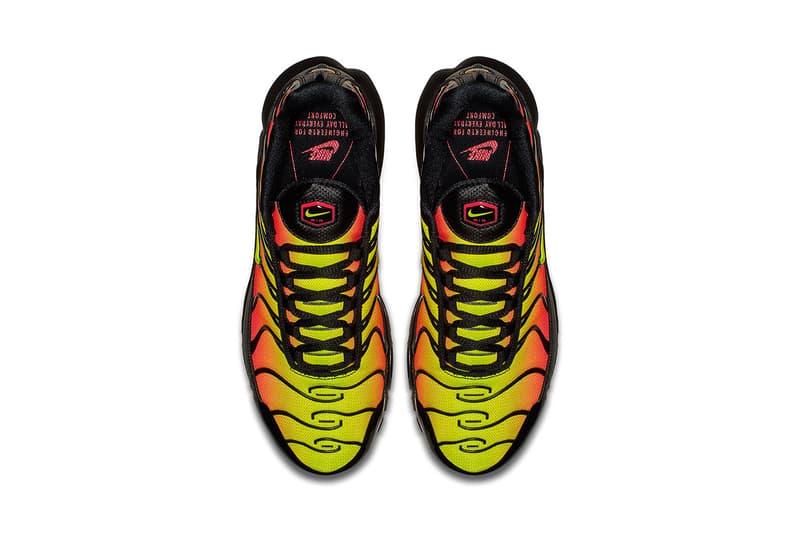 Nike Air Max Plus Black Solar Red Volt nike sportswear 2018 footwear release date info drop