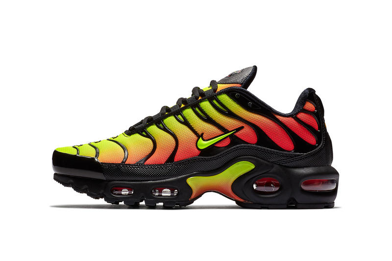Nike Air Max Plus Black Solar Red Volt nike sportswear 2018 footwear  release date info drop 2ecea7190