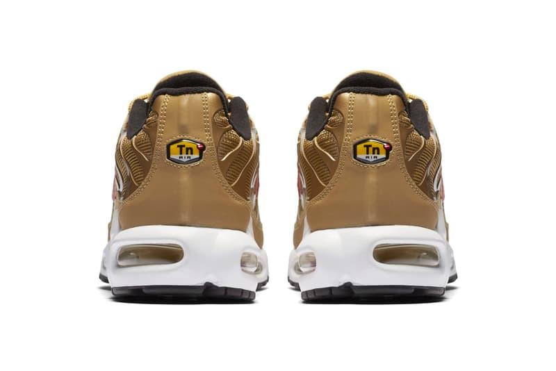 Nike Air Max Plus Metallic Gold Rerelease release info sneakers footwear