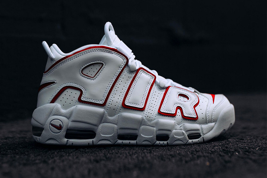 "quality design aaa8e 522d2 Nike Dresses the Air More Uptempo in a Clean ""White Varsity Red"" Color"