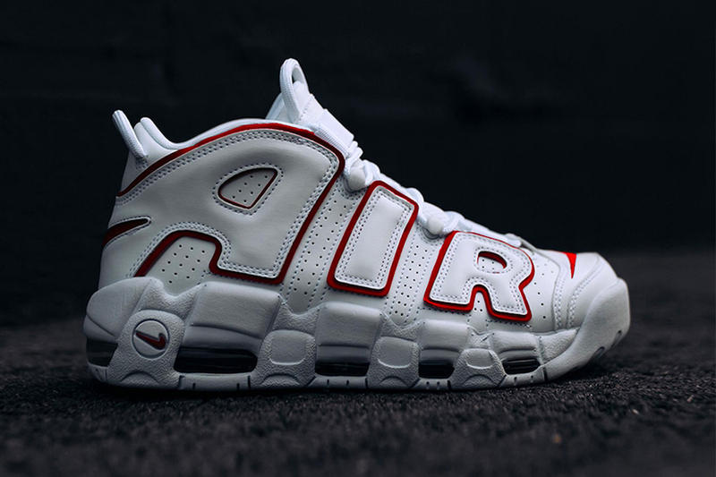 Nike Air More Uptempo White Varsity Red release info sneakers footwear