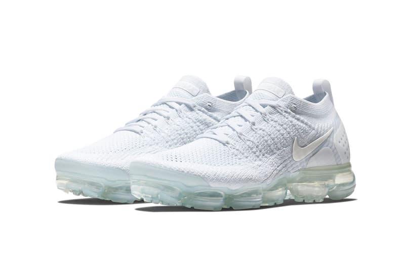 a7e2f8e79b Nike Air VaporMax 2 0 Triple White Release Date nike sportswear june 2018  footwear