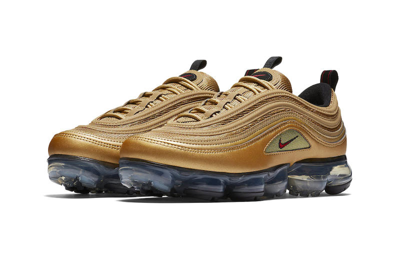 Nike Air VaporMax 97 Metallic Gold Release info sneakers footwear air max 97 air vapormax