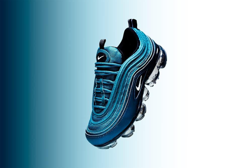 Nike Air VaporMax 97 WMNS Metallic Dark Sea white black 2018 footwear nike sportswear