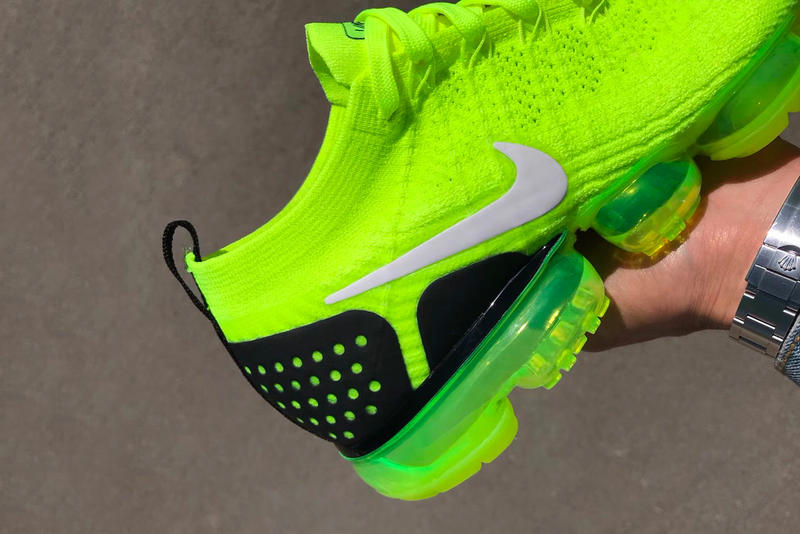 Nike Air VaporMax Flyknit 2 Volt First Look Release date purchase neon yellow sneaker