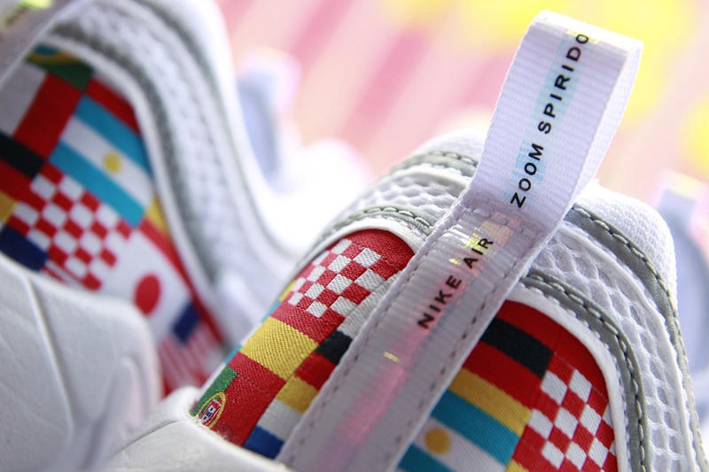 Nike Air Zoom Spiridon World Flags First Look international flags countries white sneakers release date