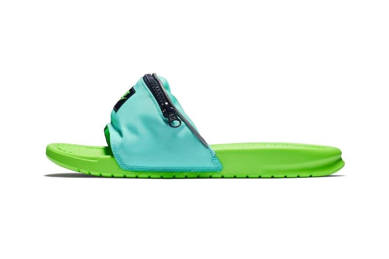06b5c88f6 Nike benassi jdi fanny pack slides Green Blue