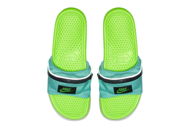 Nike benassi jdi fanny pack slides Green Blue