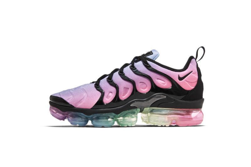 Nike BETRUE Be True LGBTQ 2018 Sneaker Collection VaporMax Plus Air Max 270 Epic React Flyknit Zoom Fly SP Lavender Pink Triangle Runners