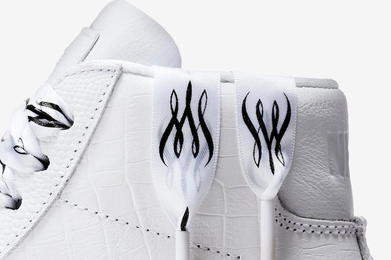 Nike Blazer Mid Serena Williams french open tennis release info sneakers footwear white leather