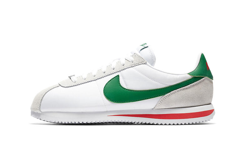 Nike Cortez white habanero red pine green 2018 footwear mexican flag cinco de mayo mexico