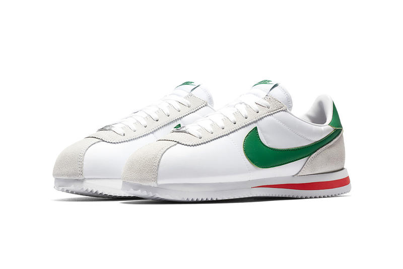 Nike Cortez white habanero red pine green 2018 footwear mexican flag cinco de mayo mexico