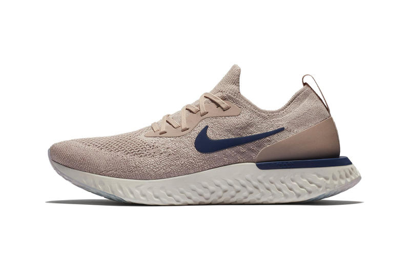 "Nike Epic React Flyknit ""Tan/Navy"" Colorway release date first look price beige blue neutral sneaker"