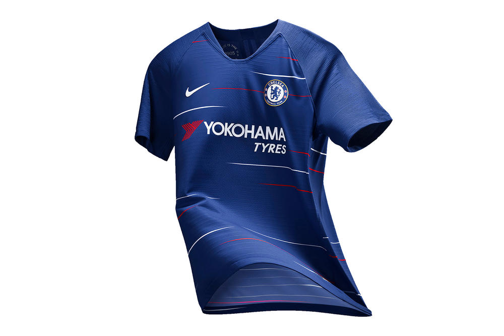 Nike Football Chelsea 2019 Home Kits Eden Hazard Willian EPL English Premier League Victor Moses Zlatan Ibrahimovic Visa 2018 World Cup